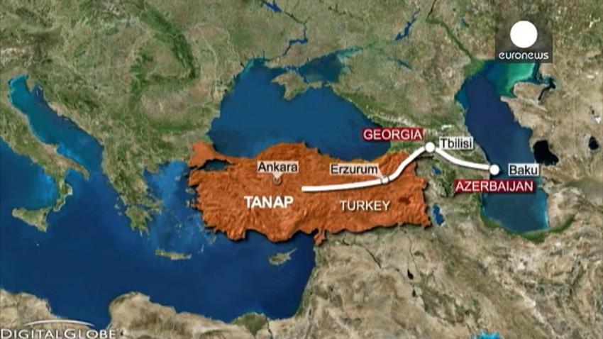 gazoduc gaz Turquie Tanap