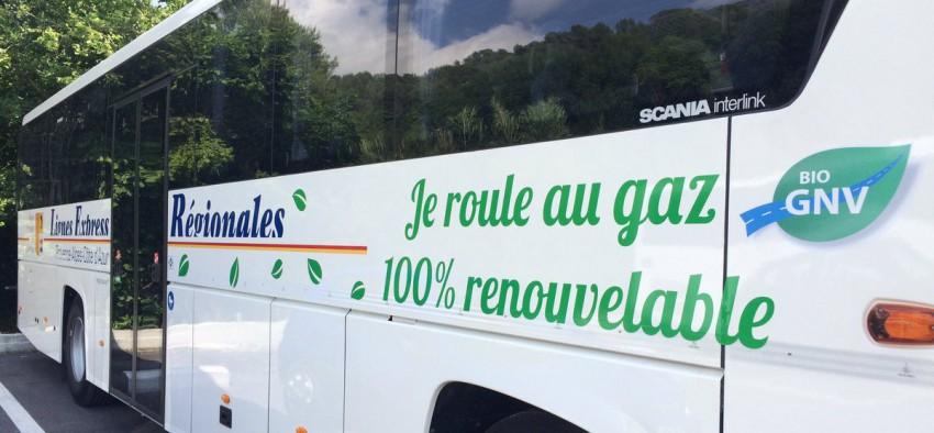 BioGNV transport public GRDF région PACA