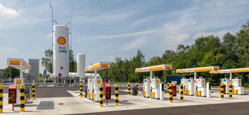 Shell GNL gaz naturel carburant France Europe